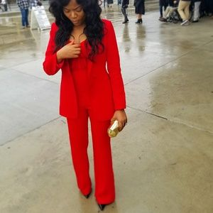 Outstanding jumpsuit and blazer